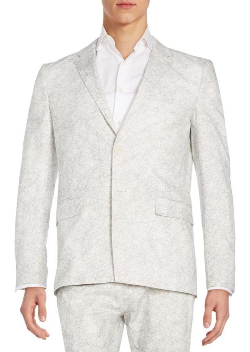 Helmut Lang Regular-Fit Crackled-Print Sportcoat