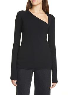 Helmut Lang Rib Asymmetrical Sweater