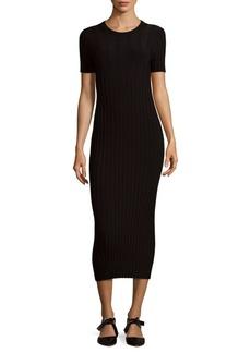 Helmut Lang Rib-Knit Midi Dress