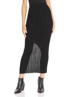 Helmut Lang Ribbed Bodycon Skirt