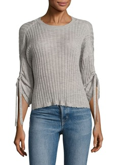 Helmut Lang Ribbed Cashmere Top