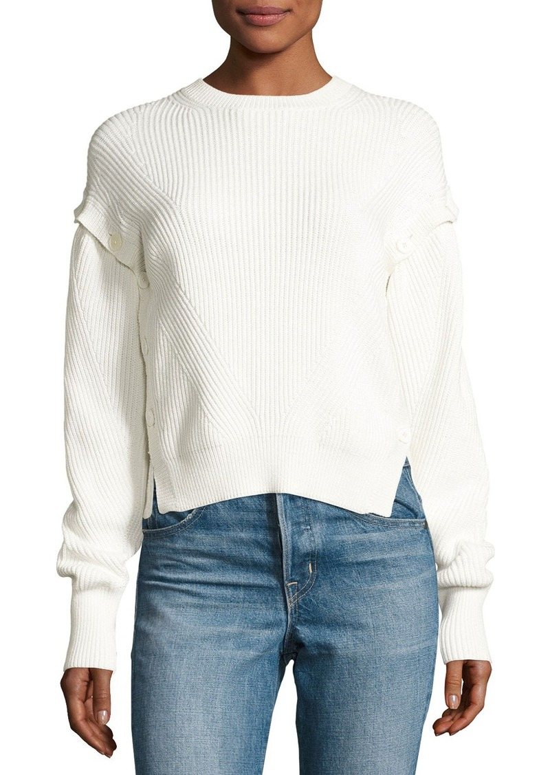 Helmut Lang Helmut Lang Ribbed Cotton Pullover Sweater | Sweaters ...