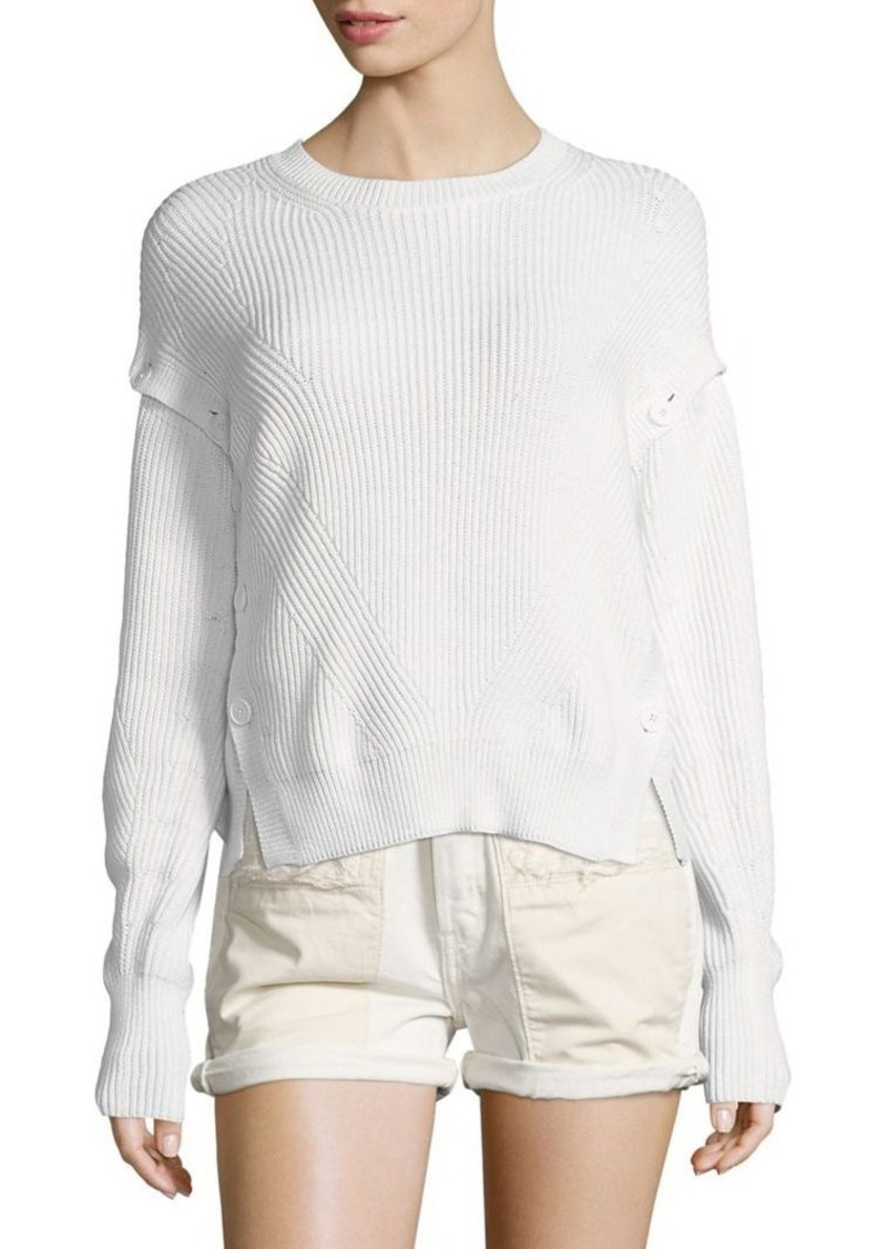 Helmut Lang Helmut Lang Ribbed Cotton Sweater | Sweaters - Shop It ...
