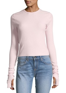 Helmut Lang Ribbed Crewneck Long-Sleeve Top