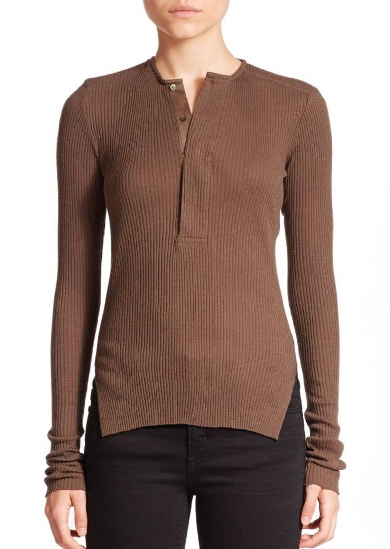 Helmut Lang Ribbed Henley Top