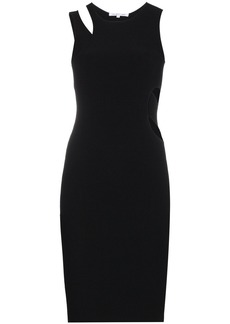 Helmut Lang Ribbed jersey cut out dress - Black