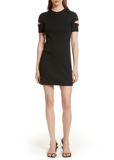 Helmut Lang Ribbed Slash Sleeve Dress