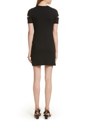 Helmut Lang Ribbed Slash Sleeve Dress