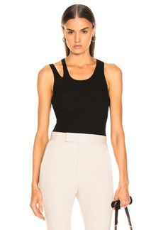 Helmut Lang Ribbed Slash Tank