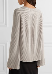Helmut Lang Helmut Lang Ribbed wool and cashmere-blend sweater ...