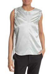 Helmut Lang Ruched Armhole Silk Tank