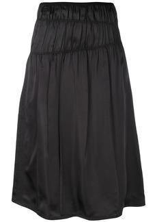 Helmut Lang ruched skirt - Black