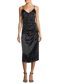 Helmut Lang Ruched Slip Dress