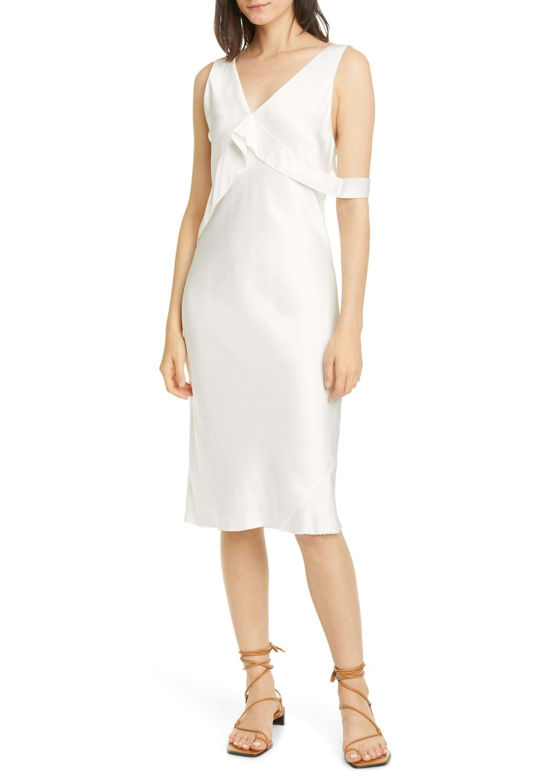 Helmut Lang Sash Double Satin Dress