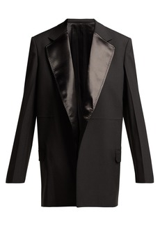 Helmut Lang Satin-panelled wool-blend tuxedo jacket
