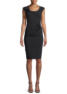Helmut Lang Scoop-Neck Sleeveless Knotted Tank Dress