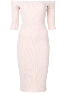 Helmut Lang seamless midi dress - Pink & Purple
