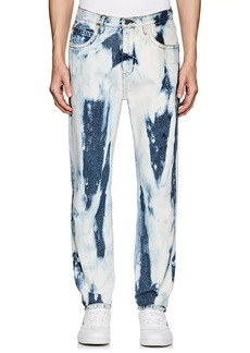 "Helmut Lang Seen By Shayne Oliver Men's ""97"" Bleach-Dyed Straight Jeans"