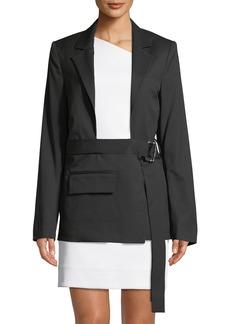 Helmut Lang Shayne Oliver Open Chest Wool Blazer