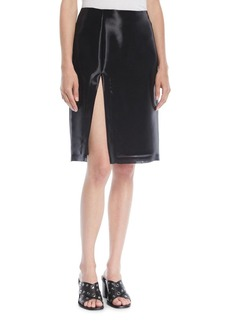 Helmut Lang Shayne Oliver Split Knee-Length Skirt