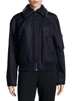 Helmut Lang Shearling Bomber Jacket