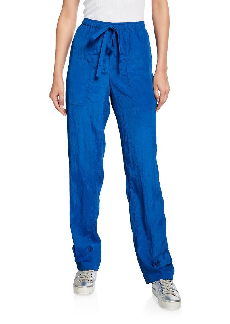 Helmut Lang Sheer Crinkled Pull-On Pants