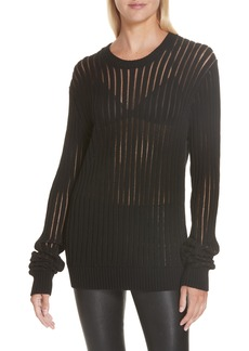 Helmut Lang Sheer Stripe Sweater