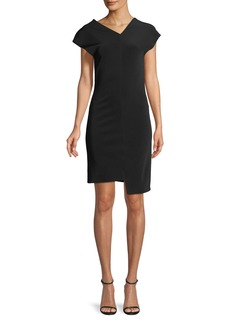 Helmut Lang Shifted Asymmetric Short-Sleeve Dress