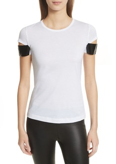 Helmut Lang Shiny Cuff Cotton Tee