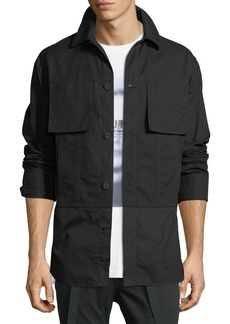 Helmut Lang Shirting-Trim Button-Front Jacket