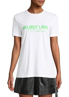Helmut Lang Short-Sleeve Logo Baby Tee