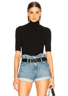 Helmut Lang Short Sleeve Turtleneck Sweater