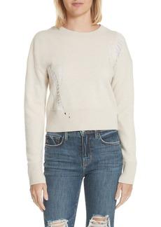 Helmut Lang Shredded Crop Lambswool Sweater