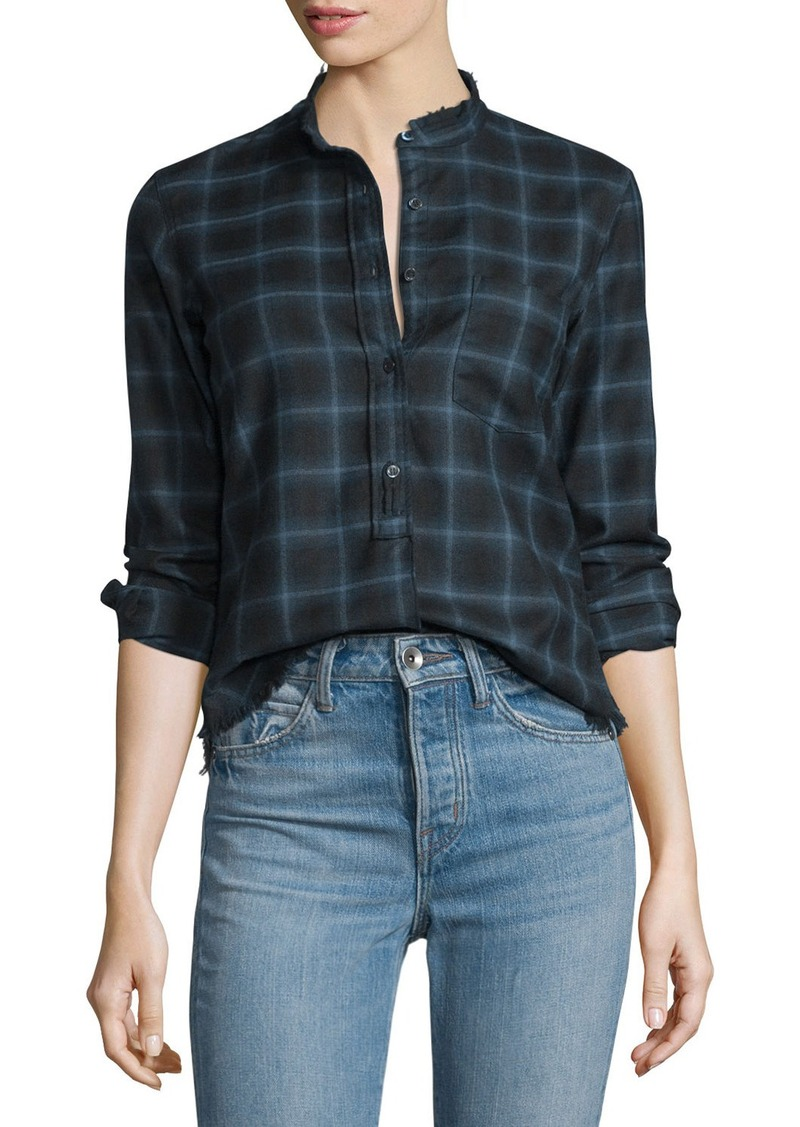 Helmut Lang Helmut Lang Shrunken Plaid Pullover Shirt | Dress ...