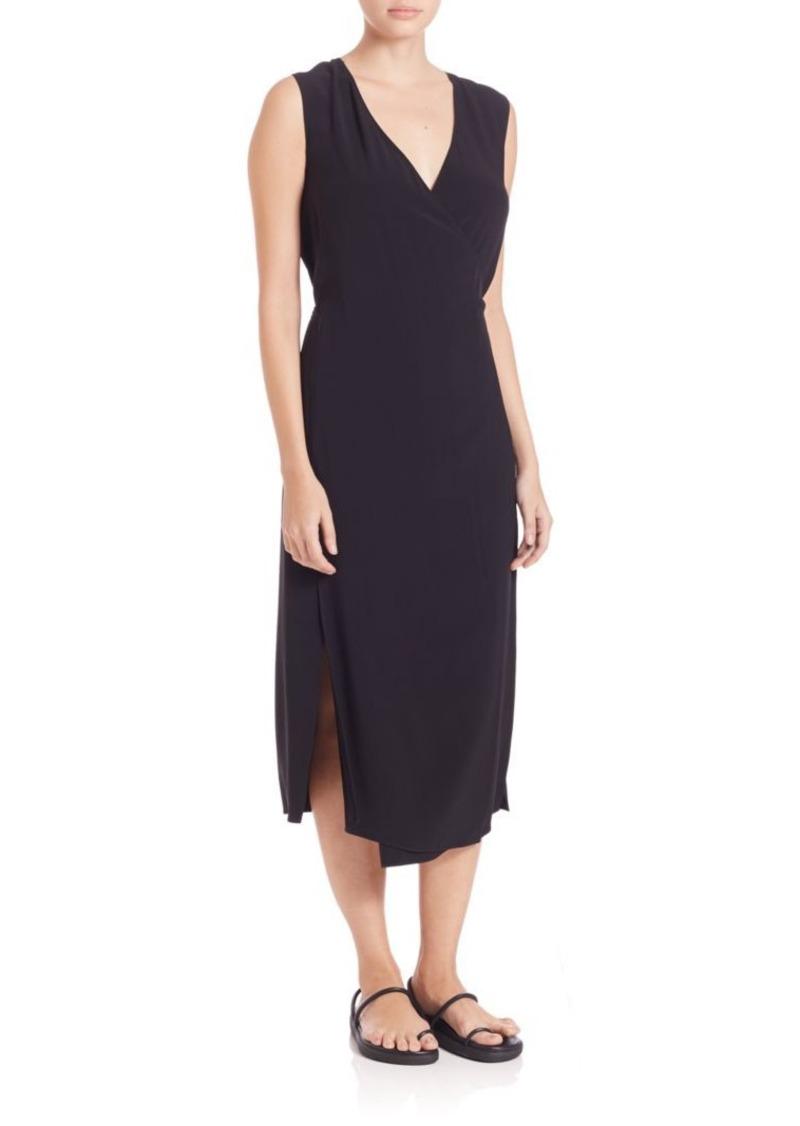 Helmut Lang Side Slit Wrap Dress