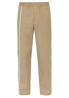 Helmut Lang Side-stripe cotton track pants