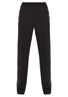 Helmut Lang Side-striped stretch-wool trousers
