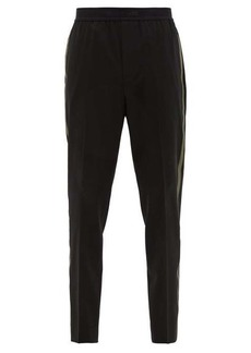 Helmut Lang Side-striped wool-blend slim-leg trousers