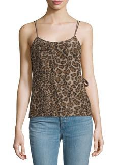 Helmut Lang Silk Leopard Overlay Top