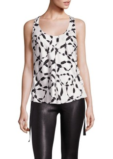 Helmut Lang Silk Side Tie Tank Top