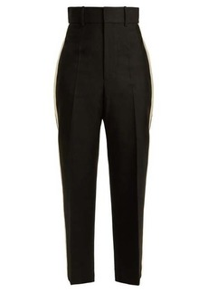 Helmut Lang Silk-trimmed crepe trousers