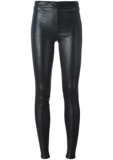 Helmut Lang skinny leather trousers - Black
