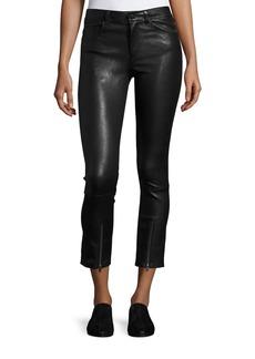 Helmut Lang Skinny Zip-Cuff Leather Leggings