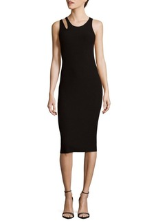 Helmut Lang Slash Rib Midi Bodycon Dress
