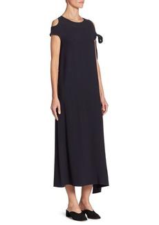 Helmut Lang Sleeve Cold Shoulder Tie Dress