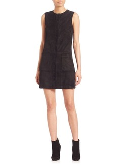 Helmut Lang Sleeveless Crewneck Leather Dress