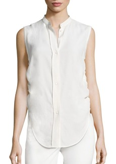 Helmut Lang Sleeveless Ruched Blouse
