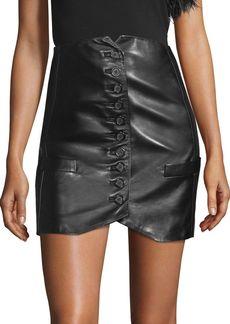Helmut Lang Slim Leather Skirt