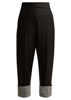 Helmut Lang Slim-leg turned-up tailored trousers