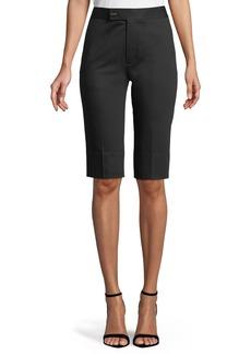 Helmut Lang Slim Split-Hem Cotton Bermuda Shorts